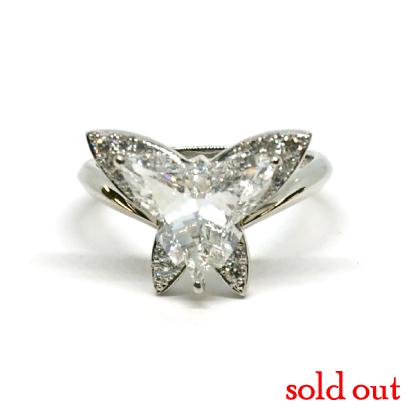 激レア!蝶の形のダイヤモンドリング